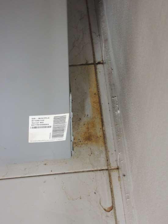 floor stains behind fridge
