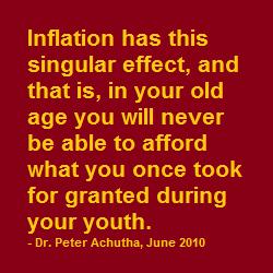 singular inflation rate