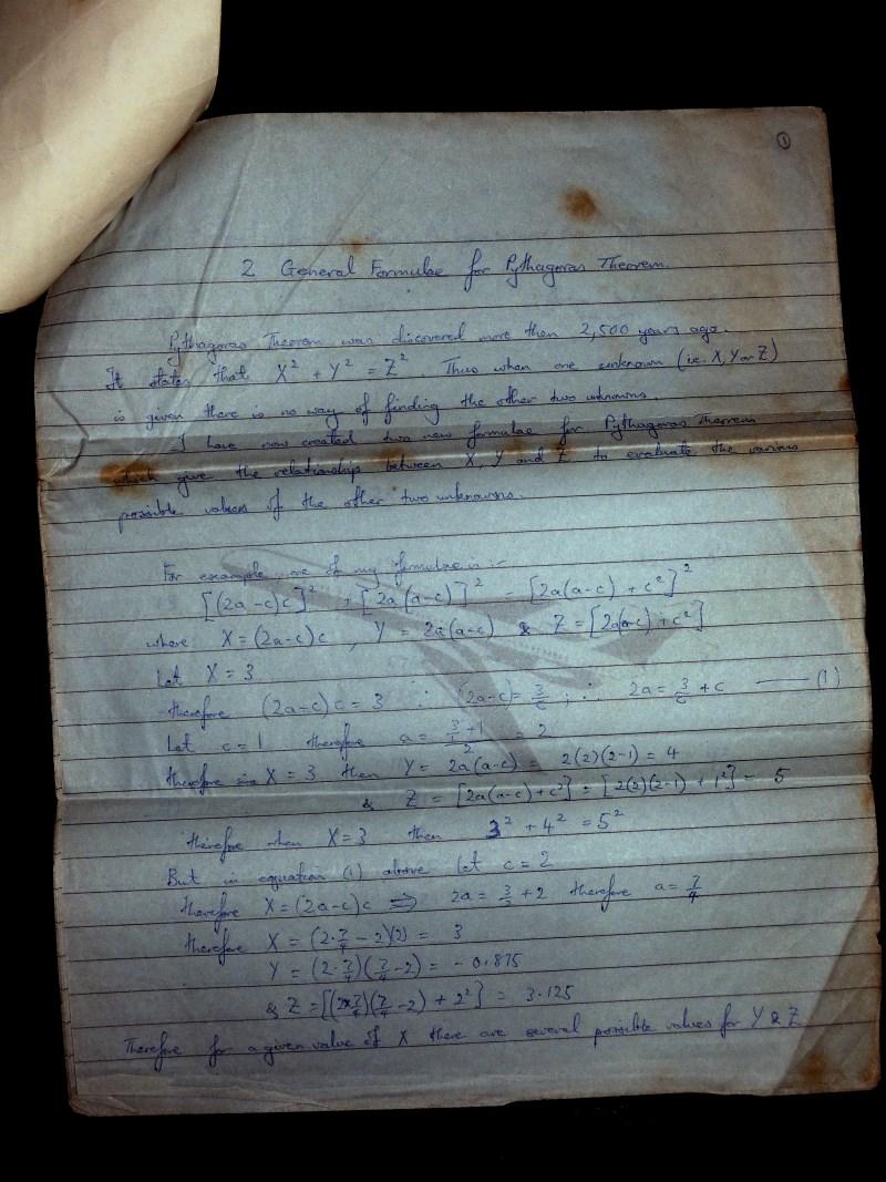 Pythagora Theorem page 2
